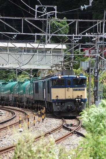 2020年8月11日撮影 西線貨物8084レ 木曽平沢駅にて