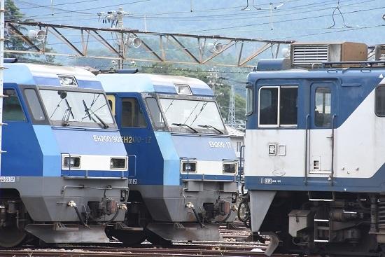 2020年8月12日撮影 南松本にて EH200-901号とEH200-17号機
