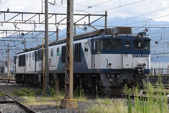 2020年8月12日撮影 南松本にて EF64-1008号機