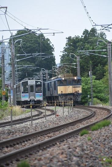 2020年6月27日撮影 篠ノ井線8467レと2230M E127系すれ違い