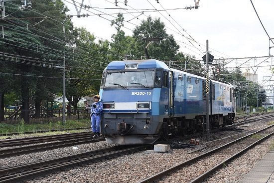 2020年8月12日撮影 南松本にて東線貨物2080レ 機回し