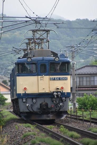 2020年6月27日撮影 篠ノ井線8467レ EF64-1044号機 後撃ち