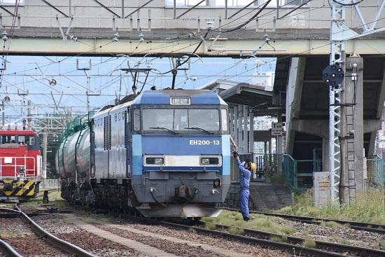 2020年8月12日撮影 南松本にて東線貨物2080レ 無線機返却