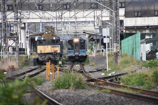2020年6月27日撮影 篠ノ井線8467レと1121M E127系並び