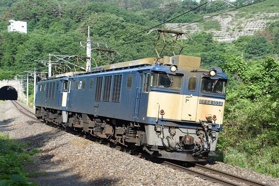 2020年6月27日撮影 篠ノ井線8467レ 西条トンネル出口先のカーブ