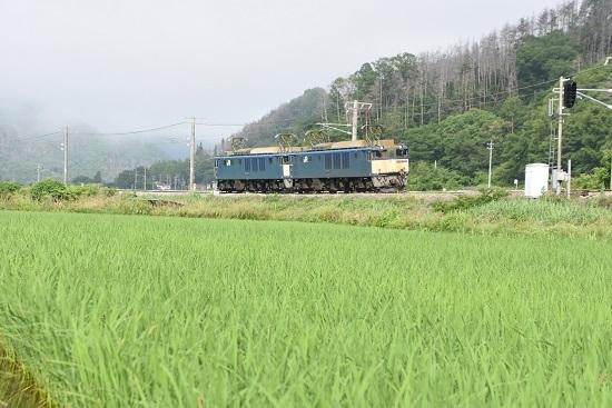 2020年6月27日撮影 篠ノ井線8467レ 坂北カーブ