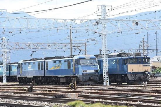 2020年8月13日撮影 南松本にてEH200-8号機とEF64-1024号機の並び