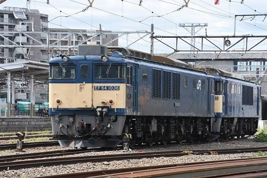 2020年8月13日撮影 南松本にてEF64-1036号機