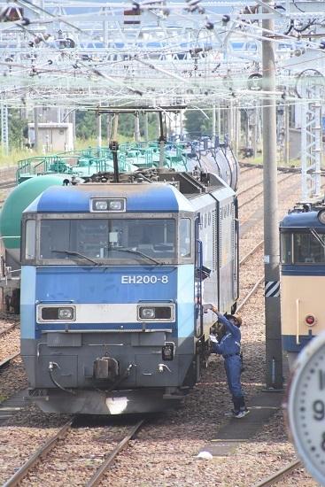 2020年8月13日撮影 南松本にて西線貨物2080レ機回し メモ渡し