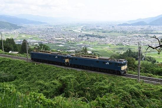 2020年6月27日撮影 篠ノ井線8467レ 善光寺平バック