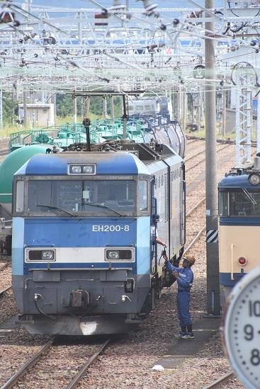 2020年8月13日撮影 南松本にて西線貨物2080レ機回し 無線機渡し