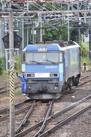 2020年8月13日撮影 南松本にて東線貨物2083レ 機回し