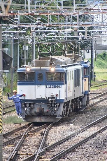 2020年8月13日撮影 南松本にて 西線貨物8084レ 機回し