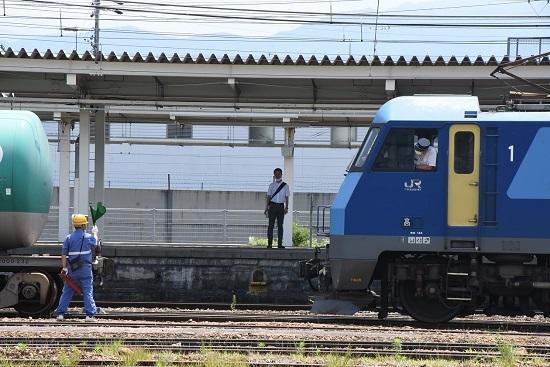 2020年6月27日 篠ノ井駅にて坂城貨物5774レ EH200-901号機 誘導中