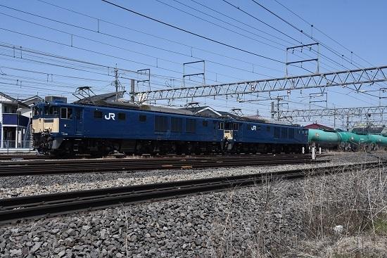 2020年4月25日撮影 西線貨物8084レ EF64-1024+1025号機