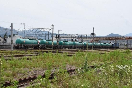 2020年6月27日 篠ノ井駅にて坂城貨物5774レ EH200-901号機 発車