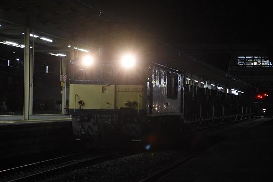 2020年10月20日撮影 塩尻駅にて配9441レ EF64-1032号機が牽くホキ廃回
