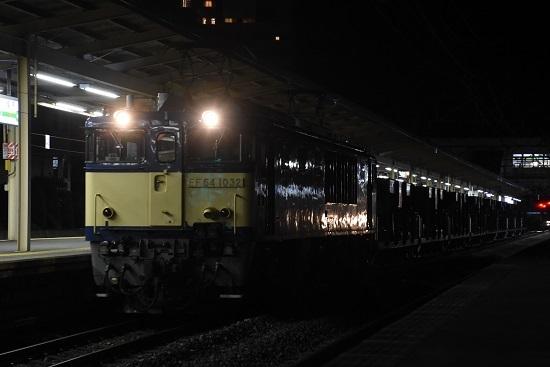 2020年10月20日撮影 塩尻駅にて配9441レ EF64-1032号機が牽くホキ廃回9両