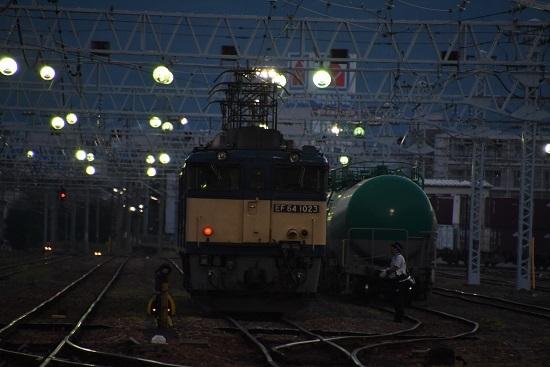2020年8月15日撮影 南松本にて EF64-1023号機と運転士さん