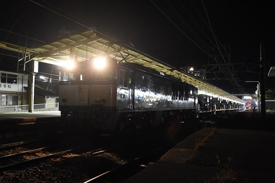 2020年10月20日撮影 塩尻駅にて配9441レ EF64-1032号機が牽くホキ廃回前出し