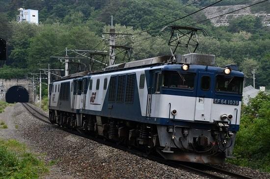 2020年6月6日撮影 篠ノ井線 8467レ EF64 西条トンネル手前まで引き付けて
