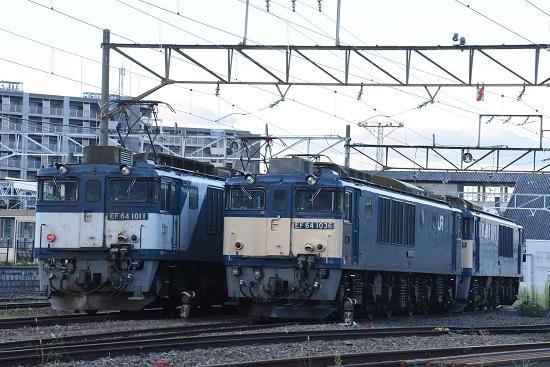 2020年8月15日撮影 南松本にて  EF64-1036号機と1011号機