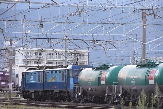 2020年8月15日撮影 南松本にて  坂城貨物5463レ EH200-11号機を後撃ち
