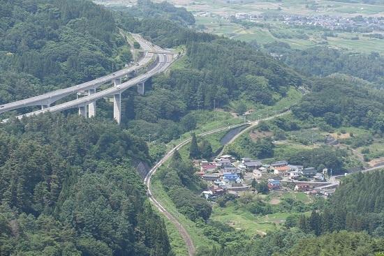 2020年6月26日撮影 1本松峠俯瞰 善光寺平バック