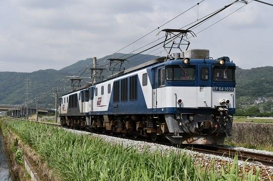 2020年6月6日撮影 篠ノ井線8467レ EF64-1039号機 稲荷山ストレート
