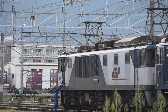 2020年8月15日撮影 篠ノ井線8467レ 南松本にて 無線機の返却