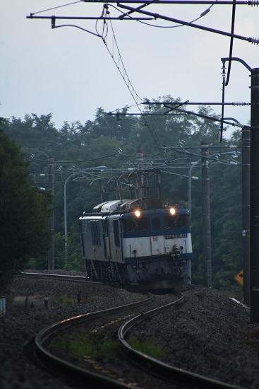 2020年8月15日撮影 篠ノ井線8467レ S字カーブを行く