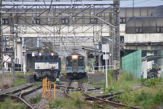 2020年8月15日撮影 篠ノ井線8467レ 明科駅にて