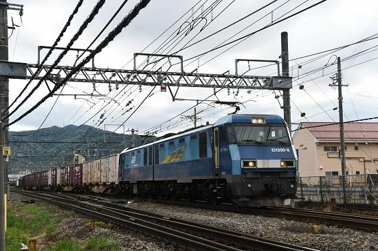 2020年9月19日撮影 東線貨物2083レ EH200-8号機 塩尻駅通過