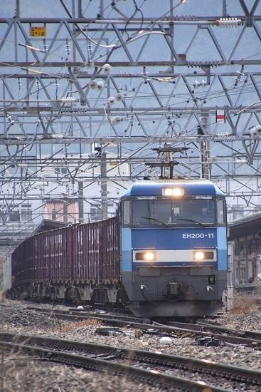 2020年4月26日撮影 東線貨物2083レ EH200-11号機正面から