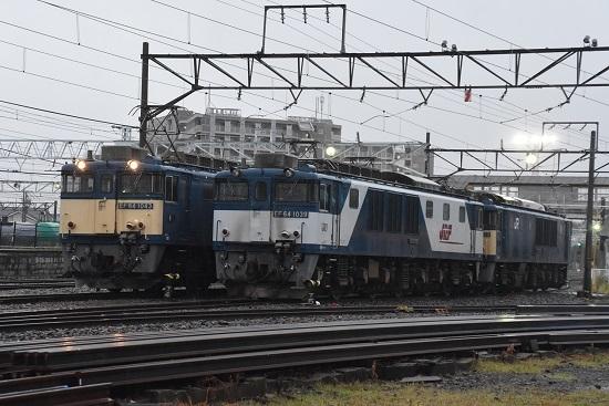 2020年7月4日撮影 南松本にて篠ノ井線8467レ EF64-1043号機と1019号機の並び