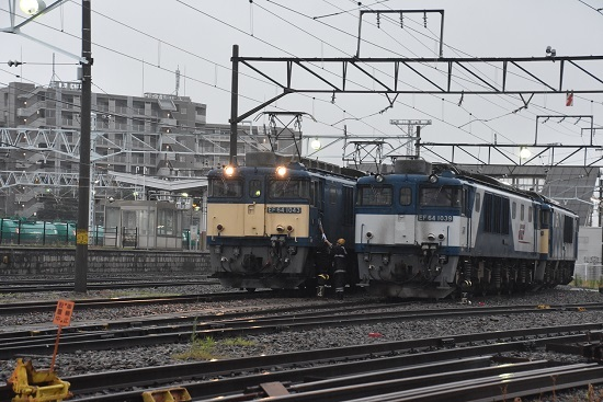 2020年7月4日撮影 南松本にて篠ノ井線8467レ 無線機渡し