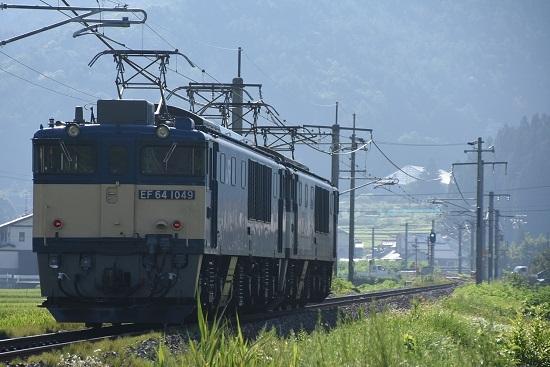 2020年8月15日撮影 篠ノ井線8467レ 聖高原ストレートにて後撃ち