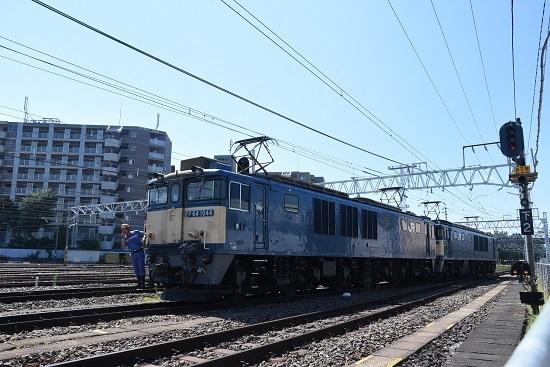 2020年8月15日撮影 南松本にて 西線貨物8084レ 機回し 1番線入線