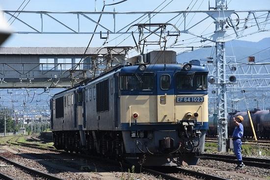 2020年8月15日撮影 南松本にて 西線貨物8084レ 機回し 下り1番線