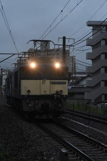 2020年7月4日撮影 篠ノ井線8467レ 松本市内にて EF64-1043号機