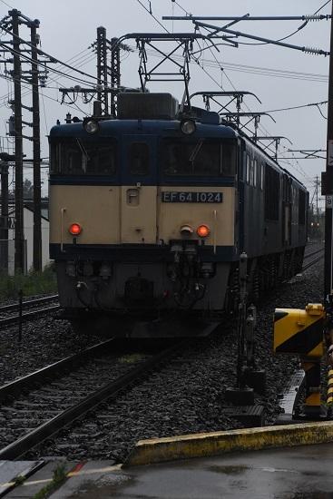 2020年7月4日撮影 篠ノ井線8467レ 松本市内にて 後撃ちにてEF64-1024号機