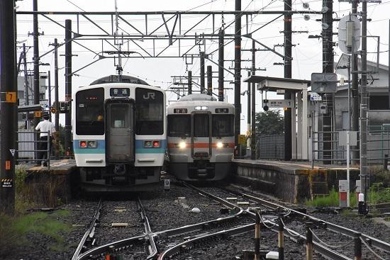 2020年7月4日撮影 羽場駅にて 210M211系と213M313系1700番台