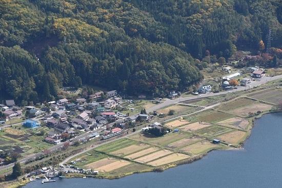 2020年10月24日撮影 木崎湖俯瞰 5340M E127系 海ノ口駅