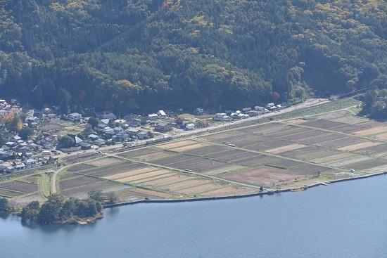 2020年10月24日撮影 木崎湖俯瞰 5440M E127系 稲尾駅