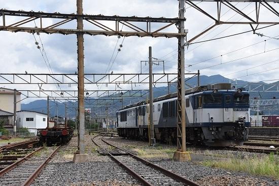 2020年7月12日撮影 南松本にて EF64-1017+1022号機