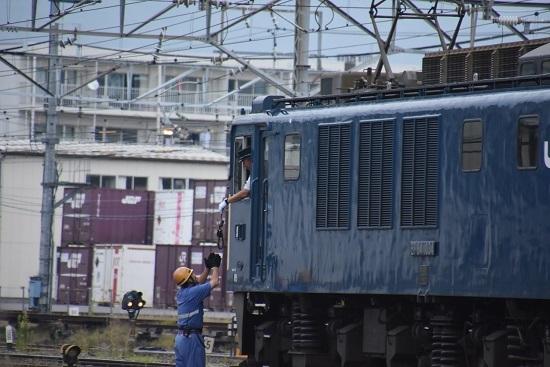 2020年8月22日撮影 南松本にて 篠ノ井線8467レ 無線機返却