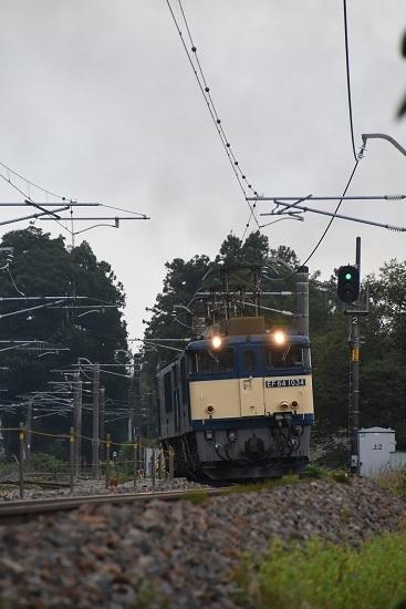 2020年8月22日撮影 篠ノ井線8467レ 田沢-明科にて EF64-1034号機