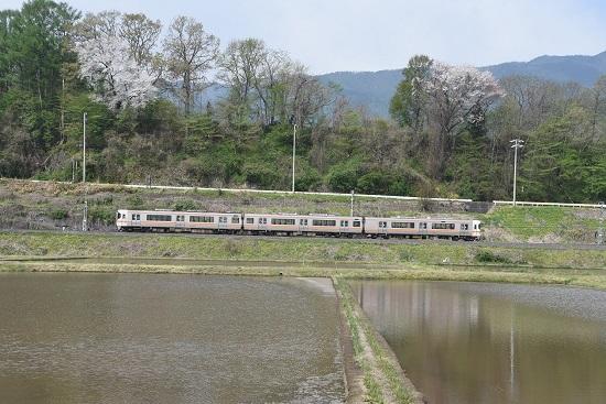 2020年5月3日撮影 飯田線213M 313系1700番台 水鏡狙い