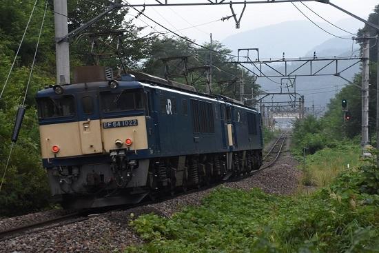 2020年8月22日撮影 篠ノ井線8467レ 西条トンネル出口 後撃ち