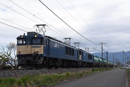 2020年5月4日撮影 西線貨物6088レ EF64-1034+1033号機